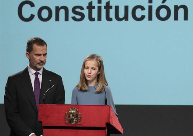 el 31 de octubre del año pasado, coincidiendo con su 13 cumpleaños, la escuchábamos por primera vez en el 40 aniversario de la Constitución.