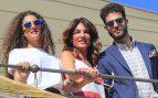 Raquel Bollo con Alma y Manuel Cortés