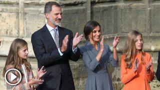 Los Reyes han cantado el himno de Asturias / Gtres
