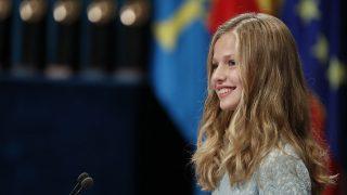 La princesa Leonor durante el discurso / Gtres