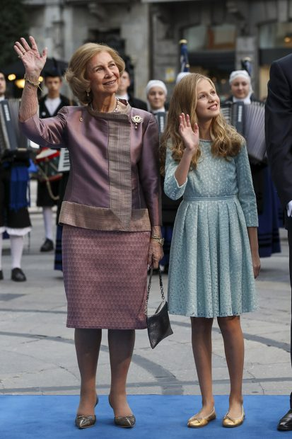 princesa Leonor, reina Sofía