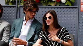 Feliciano López y Sandra Gago disfrutando de un partido de tenis/ Gtres