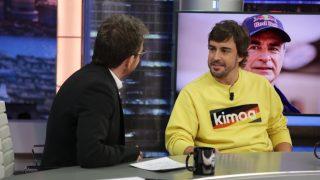 El piloto Fernando Alonso responde a Pablo Motos en 'El Hormiguero'. / Atresmedia