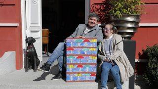 Nacho Guerreros ha colaborado el mercadillo Hanbel-Síndrome de Down, iniciativa de Down Madrid para el programa envejecimiento activo y down. /Gtres