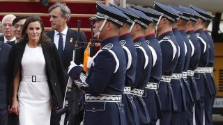 La reina Letizia a su llegada / Gtres