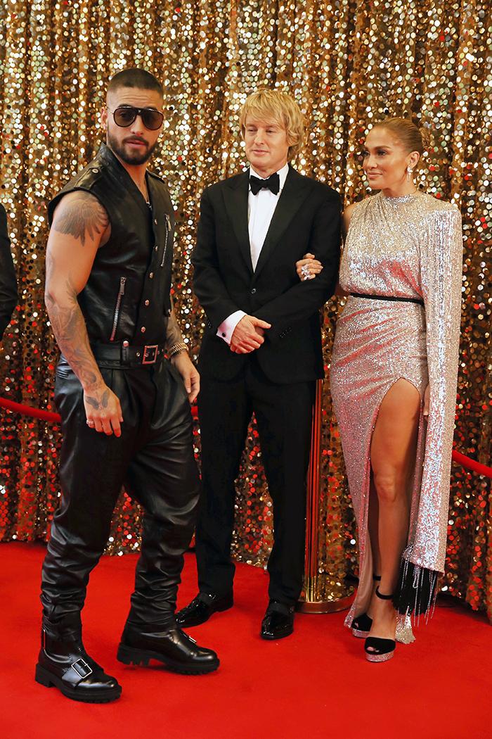 Maluma, Owen Wilson y Jennifer Lopez