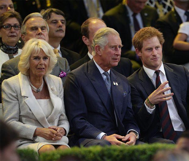 Camilla Parker, Carlos de Inglaterra y el príncipe Harry