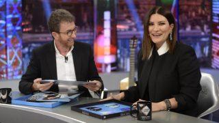 La cantante italiana en el programa de Pablo Motos. / Atresmedia