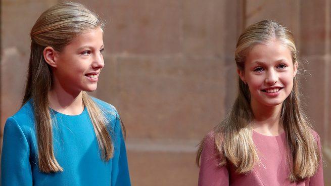 infanta Sofía y la princesa Leonor