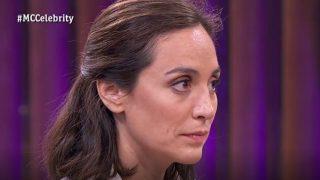 La socialité Tamara Falcó esperando el dictamen del jurado de 'MasterChef Celebrity'. / RTVE