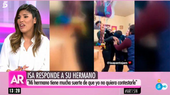 Isa Pantoja responde a Kiko Rivera: «Es su guerra y tiene mucha suerte de tener una hermana como yo»