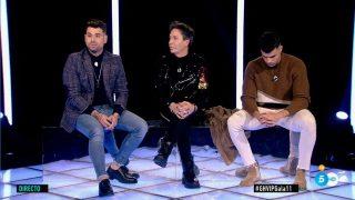 El Maestro Joao, Pol Badia y Alberto en la sala de expulsión./Mediaset