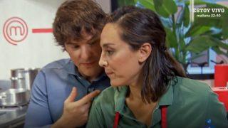 Jordi Cruz y Tamara Falcó en una prueba de 'MasterChef Celebrity'. / RTVE