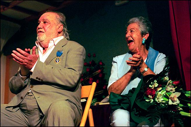 Asunción Balaguer y Paco Rabal