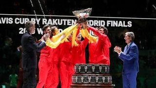 Momento de la celebración de la victoria de España en la Copa Davis / Gtres