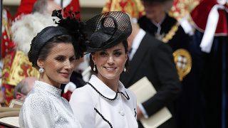 Kate Middleton y doña Letizia en una imagen de archivo / Gtres