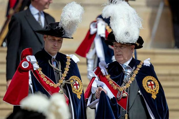 príncipe Guillermo y Andrés de York