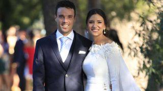 Roberto Bautista y Ana Bodí durante el día de su boda / GTRES