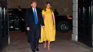 Donald Trump y Melania Trump llegando a su encuentro con el príncipe Carlos y Camila Parker / Gtres