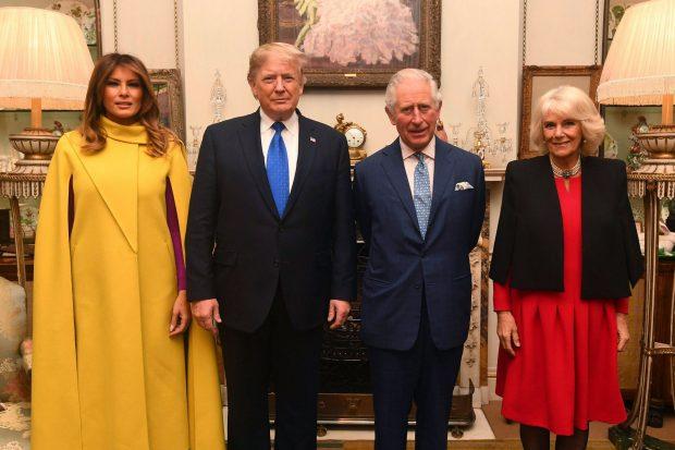 ¡Opacó a la realeza! El espectacular look de Melania Trump en Londres