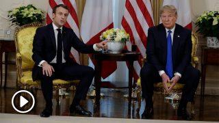 Emmanuel Macron y Donald Trump en un encuentro en la OTAN / Gtres