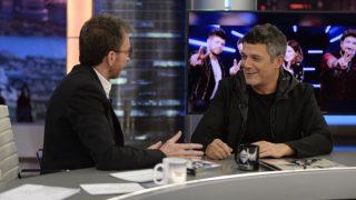El cantante acude al programa de Pablo Motos. / Atresmedia