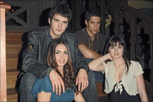Yon González, Martiño Rivas, Elena Furiase y Ana de Armas
