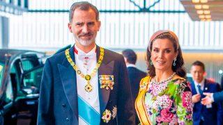Felipe y Letizia en la ceremonia de entronización de Naruhito / Gtres