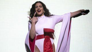 Rosalía durante su concierto en el espacio Wizink de Madrid (Foto: Gtres)