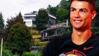 Cristiano Ronaldo y su casa de fondo / Fotomontaje LOOK