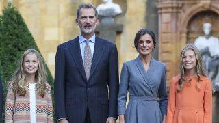 Los Reyes y sus hijas en Oviedo / Gtres