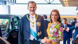 La reina Letizia con el vestido de Matilde Cano / Gtres