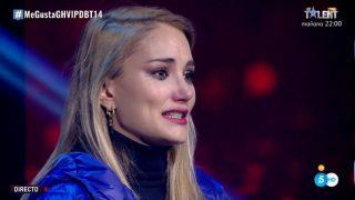 Alba Carrillo, destrozada tras los ataques de Miguel Frigenti./Mediaset