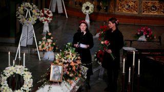 Maud Angelica durante el discurso en el funeral de su padre Ari Behn (Foto: Gtres)