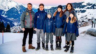 Federico y Mary de Dinamarca junto a sus hijos en Suiza / Gtres