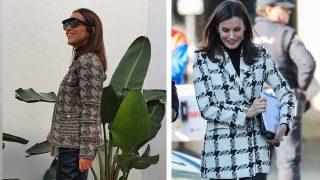 Paula Echevarría y Letizia con un look similar