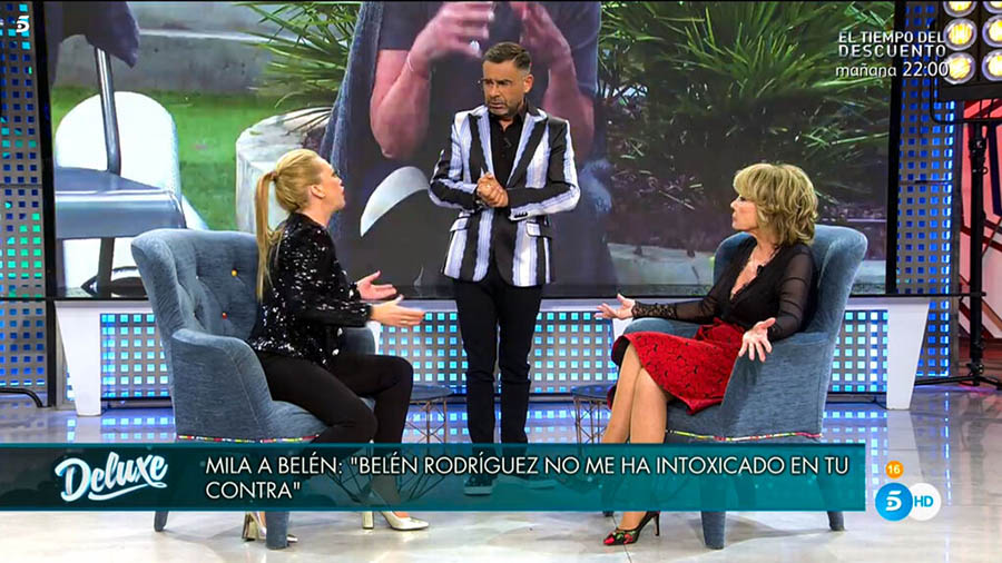 Belén Esteban y Mila Ximénez en 'Sábado Deluxe' / Telecinco