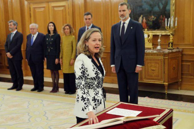 Nadia Calviño toma posesión de su cargo (Foto: Gtres)