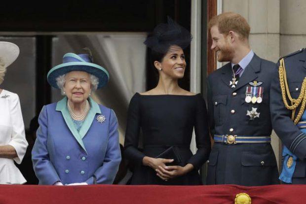 príncipe Harry, Meghan Markle, la reina Isabel II