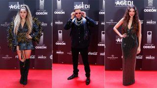 Lola Índigo, Omar Montes y Ana Guerra en los premios Odeón / Gtres