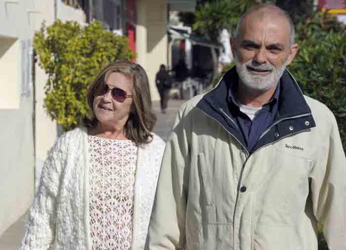 Pepa Flores y su pareja, Massimo Stecchini, en Málaga en una imagen de archivo / Gtres