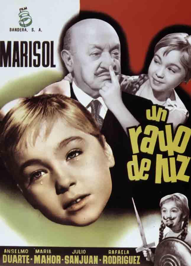 Cartel de la película 'Un rayo de luz', protagonizada por Marisol / Gtres