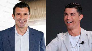 Figo y Cristiano Ronaldo / Fotomontaje LOOK