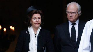 Silvia y Carlos Gustavo de Suecia el último adiós a Dagmar von Arbi / Gtres