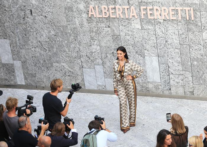 Georgina Rodríguez durante la Fashion Week de Milán / GTRES
