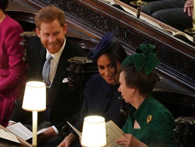 Princesa Ana, príncipe Harry, Meghan Markle