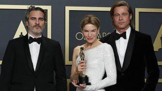 Brad Pitt, Renee Zellweger y Joaquin Phoenix son los grandes triunfadores de los Oscar 2020/ GTRES