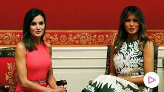 Melania Trump y Letizia Ortiz en la visita a Washington de 2018 / Gtres