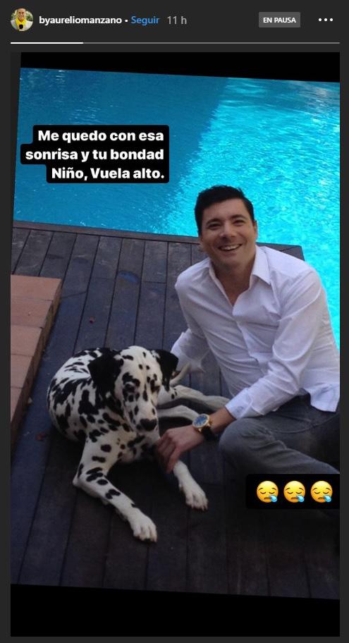 Aurelio Manzano era íntimo amigo de Fran Álvarez y ha querido rendirle homenaje en su cuenta de Instagram / INSTAGRAM