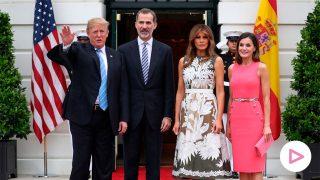 Los Reyes junto a Donald Trump y Melania en Washington / Gtres